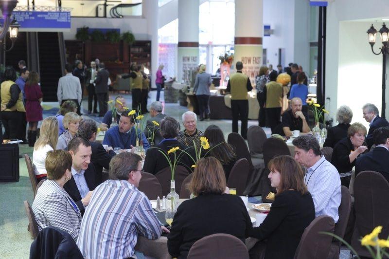 2012 bfast groups eating at tables