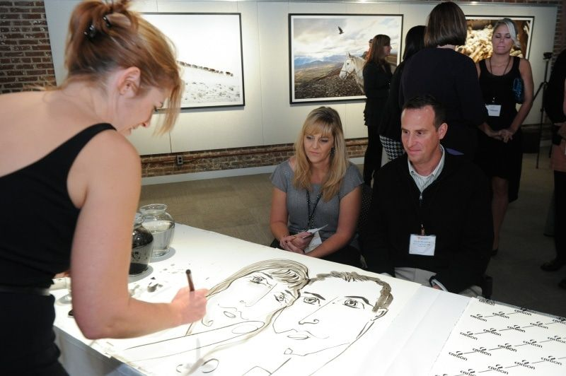 2012 cocktail party w drawing at museum